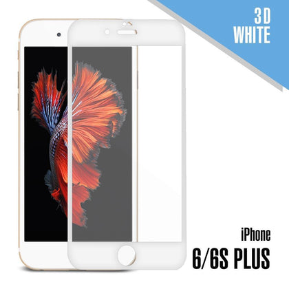 Tempered Glass for iPhone 6 Plus, 6S Plus ( 3D ) - White