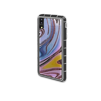 Abstract Liquid Case for iPhone X, XS - Rainbow - Rose