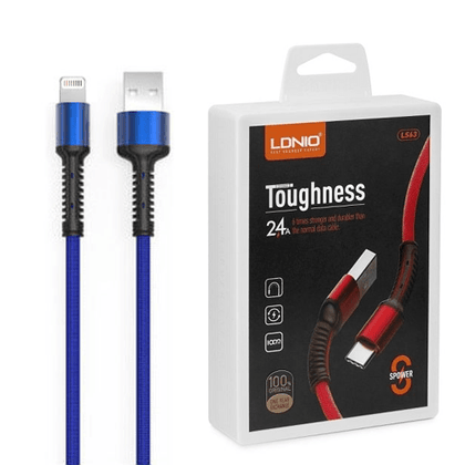 LDNIO Toughness USB Cable 2.4 A (LS63) - IOS (Blue)