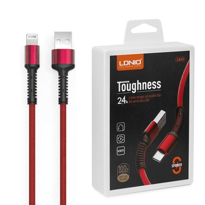 LDNIO Toughness USB Cable 2.4 A (LS63) -IOS (Red)