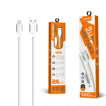 LDNIO USB Cable 2.4 A (LS391) - IOS