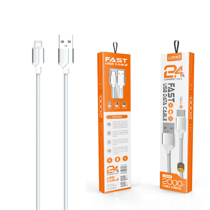 LDNIO Fast USB Data Cable 2.4 A (LS392) - Type C