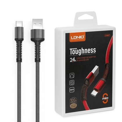 LDNIO Toughness USB Cable 2.4 A (LS63) - Micro (Grey)