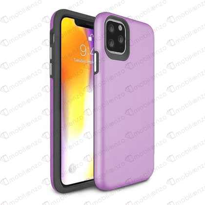 2 in 1 Premium Silicone Case for iPhone 12 Pro Max (6.7) - Light Purple
