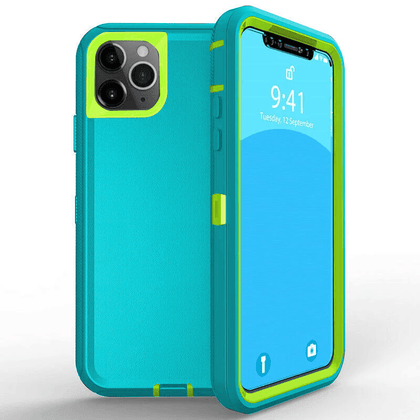 DualPro Protector Case for iPhone 11  - Light Teal & Light Green