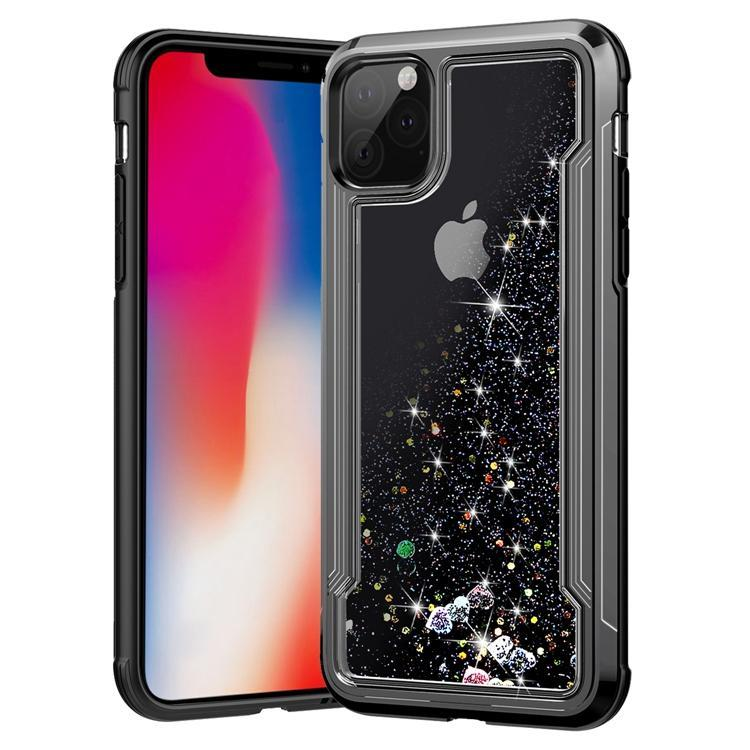 Liquid Glitter Hard Shell Case for iPhone 11 Pro Max - Black