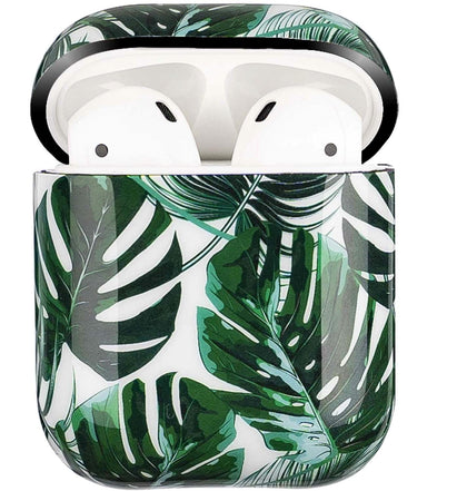Transparent Summer Case for Apple Airpods 1/2 - Leaves