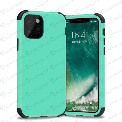 Bumper Hybrid Combo Case for iPhone 12 / 12 Pro (6.1) - Mint & Black