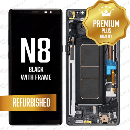 LCD Assembly With Frame for GALAXY NOTE 8 (N950) (Premium) - Black