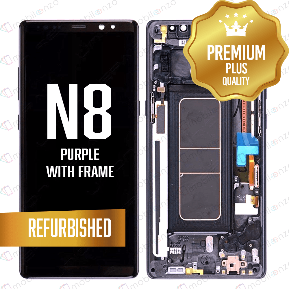 LCD Assembly With Frame for GALAXY NOTE 8 (N950) (Premium) - Purple