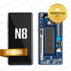 LCD Assembly With Frame for GALAXY NOTE 8 (N950) (Premium) - Gold