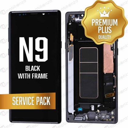 OLED Assembly for Samsung Galaxy Note 9 With Frame - Black (Service Pack)