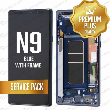 OLED Assembly for Samsung Galaxy Note 9 With Frame - Blue (Service Pack)