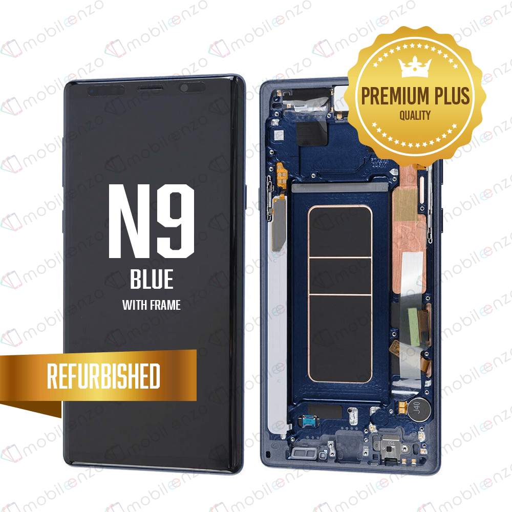 LCD Assembly With Frame for GALAXY NOTE 9 (N960) (Premium) - Blue
