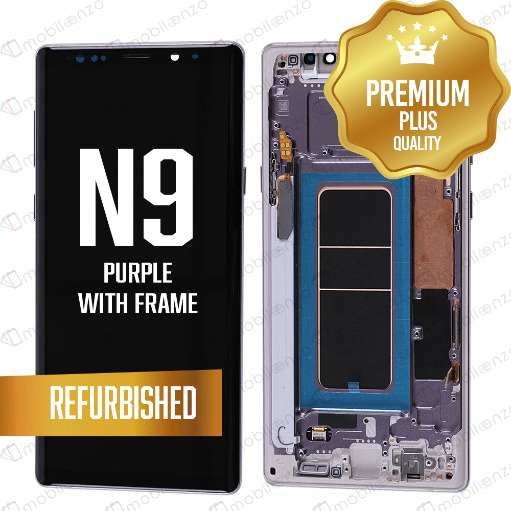 LCD Assembly With Frame for GALAXY NOTE 9 (N960) (Premium) - Lavender Purple