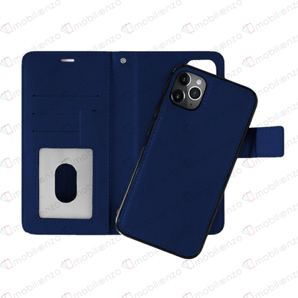 Classic Magnet Wallet Case For iPhone  11  Pro Max - Navy