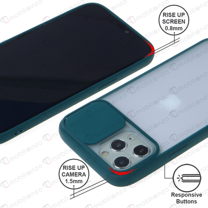 Camera Protector Case for iPhone 12 / 12 Pro (6.1) - Navy Green