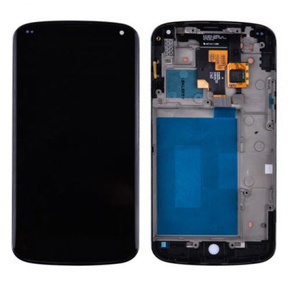 LCD Assembly for Nexus 4 With Frame - Black