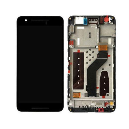 LCD Assembly for Nexus 6 Plus With Frame - Black