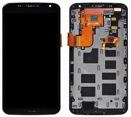 LCD Assembly for Nexus 6 With Frame - Black
