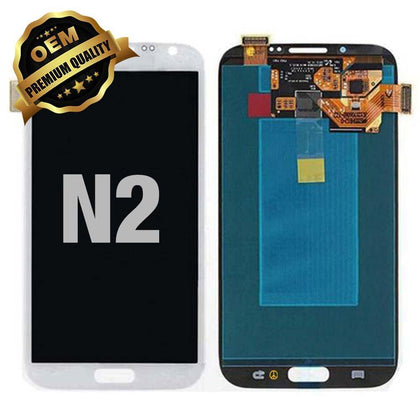 LCD Assembly for GALAXY NOTE 2 (N7100) (Premium) - White