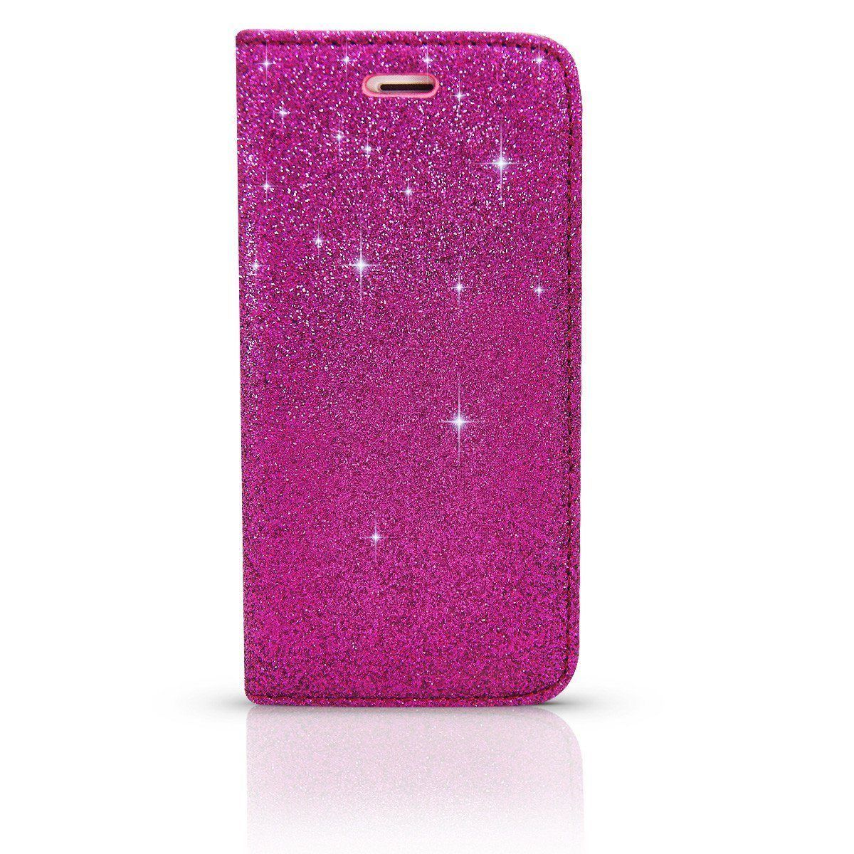 Shiny Wallet Case for i6P - Hot Pink