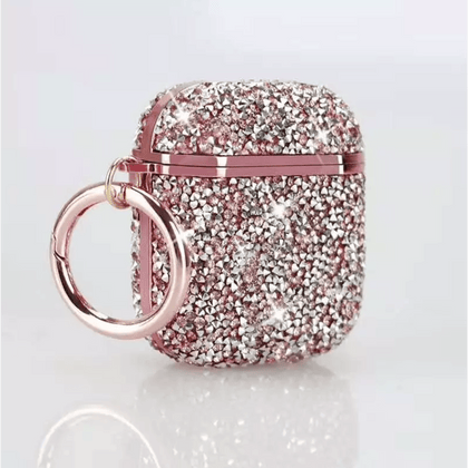 Color Diamond Case for Apple Airpods - Pink