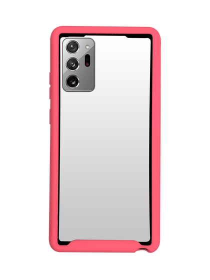 Hard Shell Transparent 3N1 Rugged Edge Back Case for Note 20 - Pink