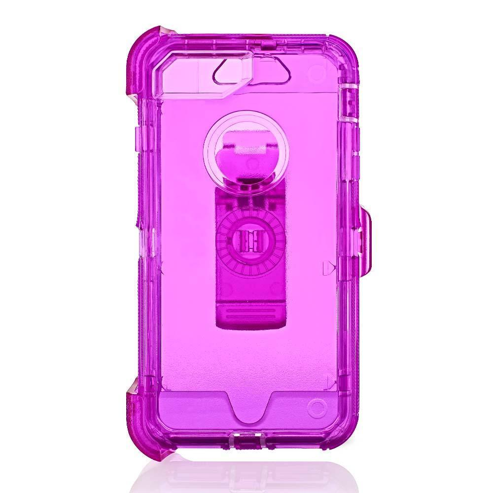 Transparent  DualPro Protector Case for iPhone 6/7/8 Plus - Purple