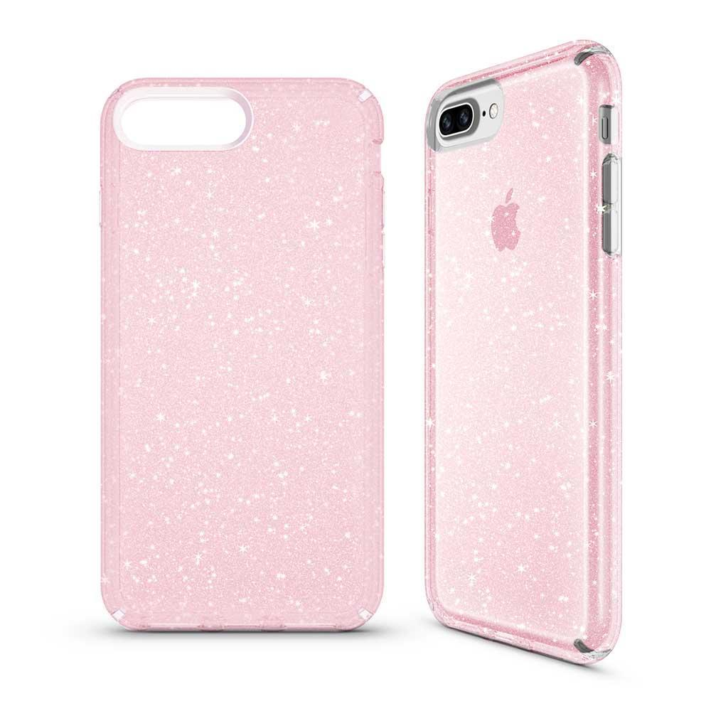 Transparent Sparkle Case (HARD SHELL) for iPhone 6/7/8 - Pink