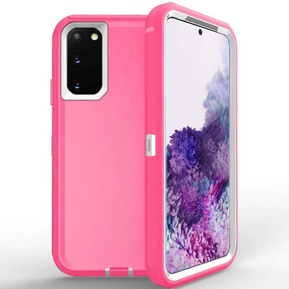 DualPro Protector Case for Samsung S20 - Pink and White