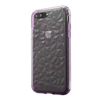 3D Crystal Case for iPhone 8/7/6 Plus - Glitter Pink