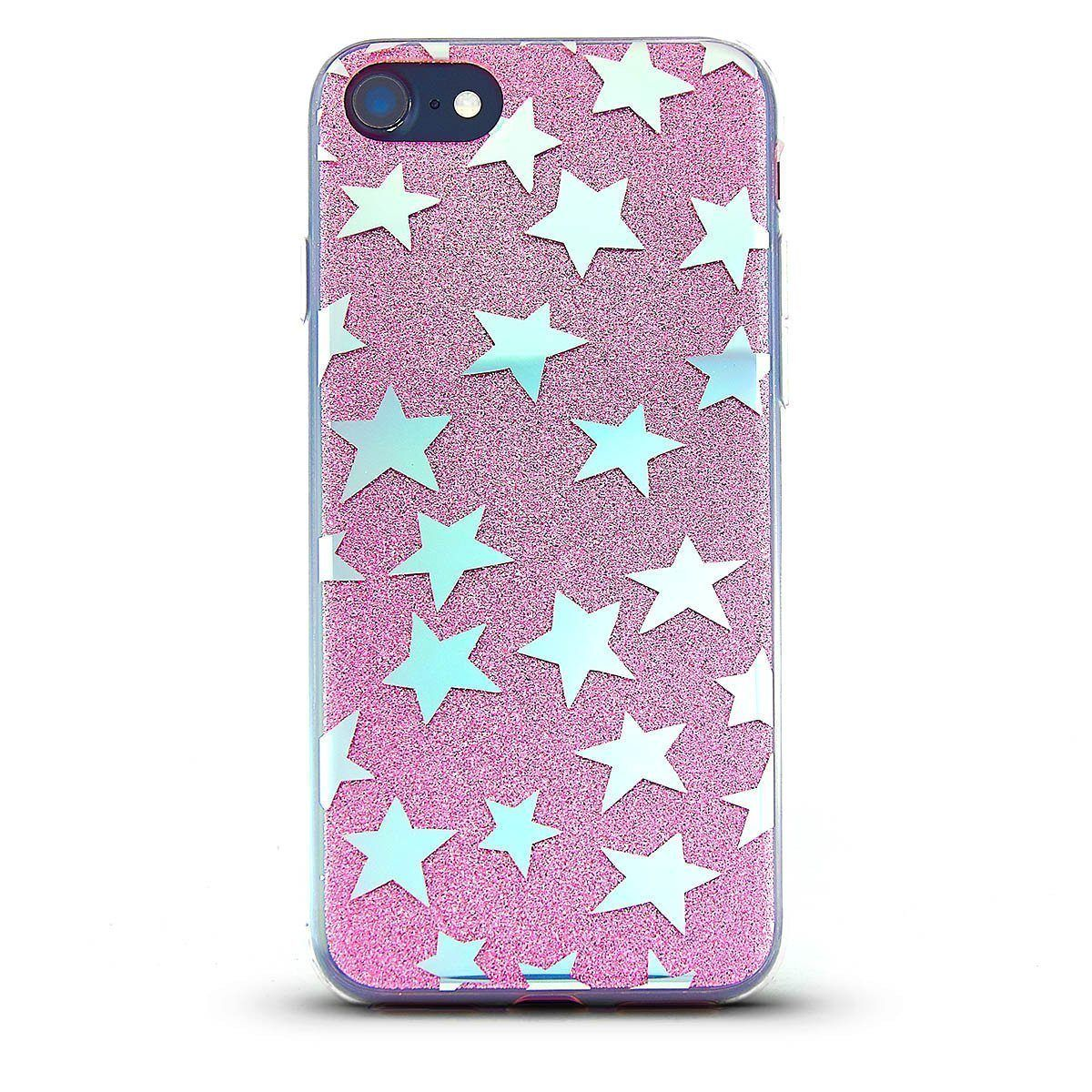 Sparkle Case for iPhone 7 /8 - Pink Star
