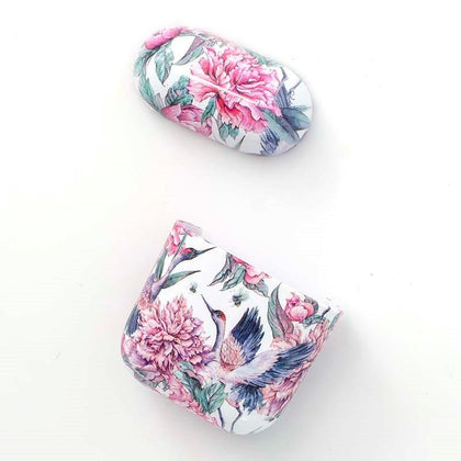 Plastic Case for Apple Airpods - Pink Flowers