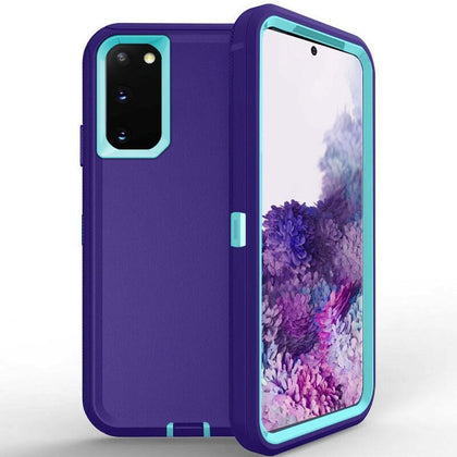 DualPro Protector Case for Galaxy Note 20 - Purple & Light Blue