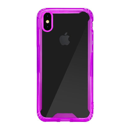 Acrylic Transparent Case for iPhone Xs Max - Purple