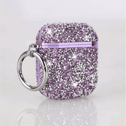 Color Diamond Case for Apple Airpods - Purple