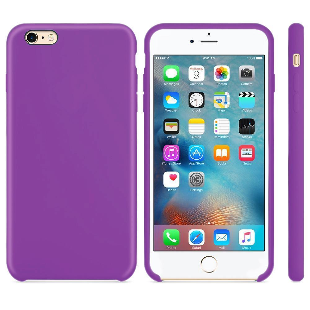 Premium Silicone Case For iPhone 6, 6S - Purple