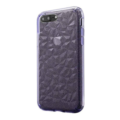 3D Crystal Case for iPhone 8/7/6 - Glitter Purple