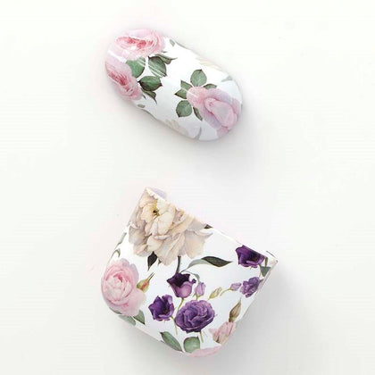 Plastic Case for Apple Airpods - Purple Flowers