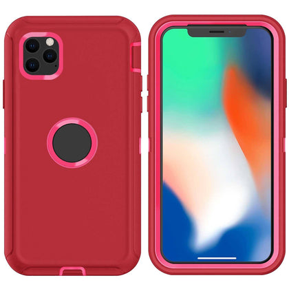 DualPro Protector Case for iPhone 11 Pro Max - Red & Pink