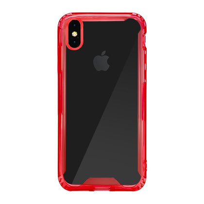 Acrylic Transparent Case for iPhone Xs Max - Red