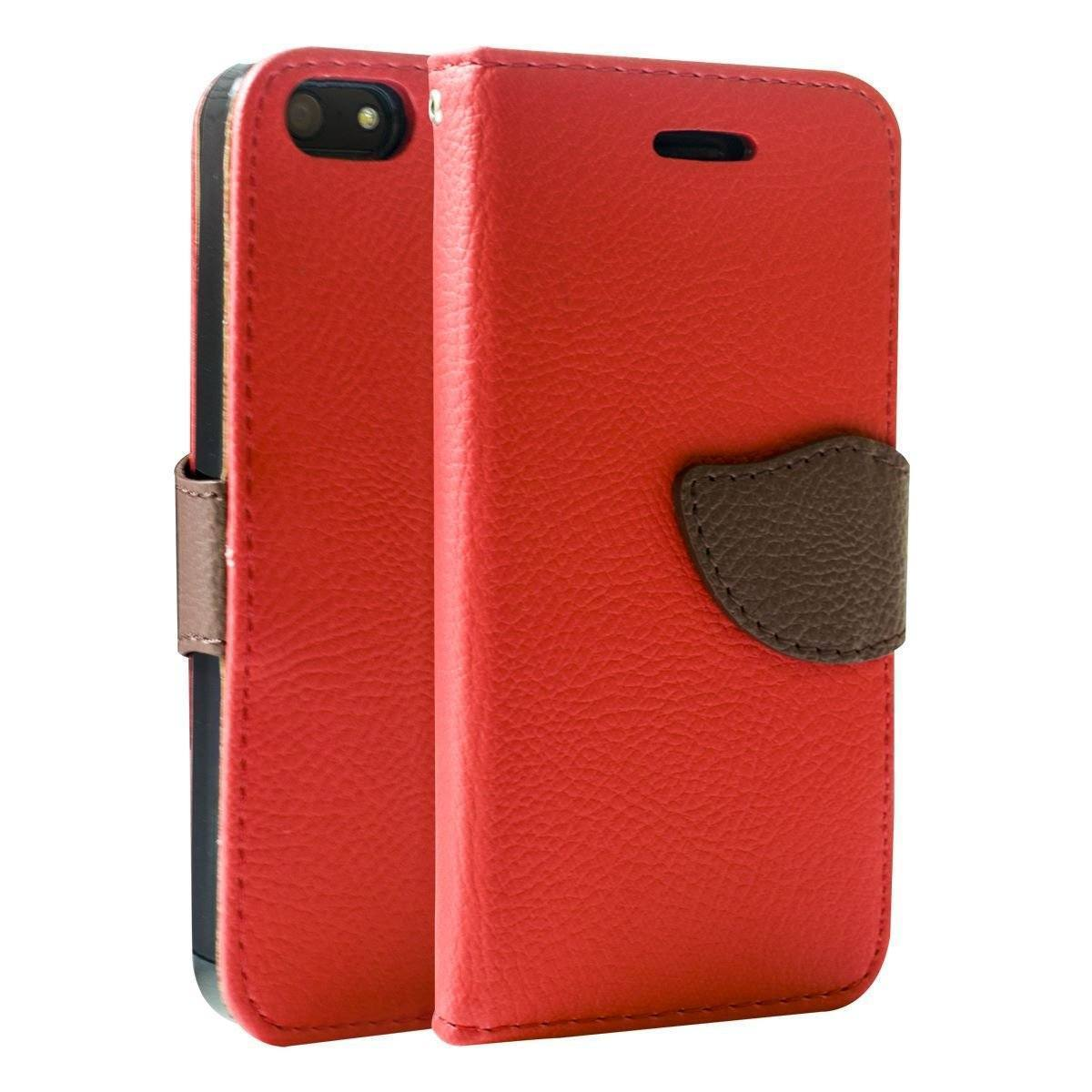 Wing Wallet Case for iPhone 5 - Red