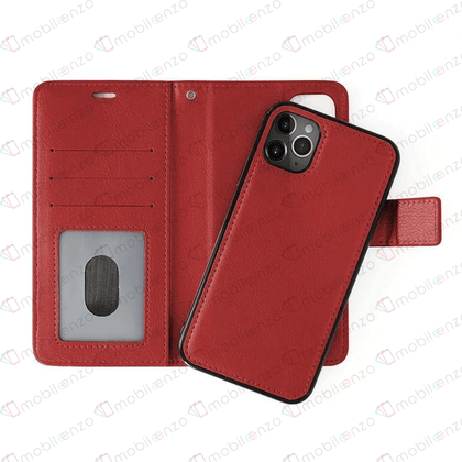 Classic Magnet Wallet Case for iPhone 12 (5.4) - Red