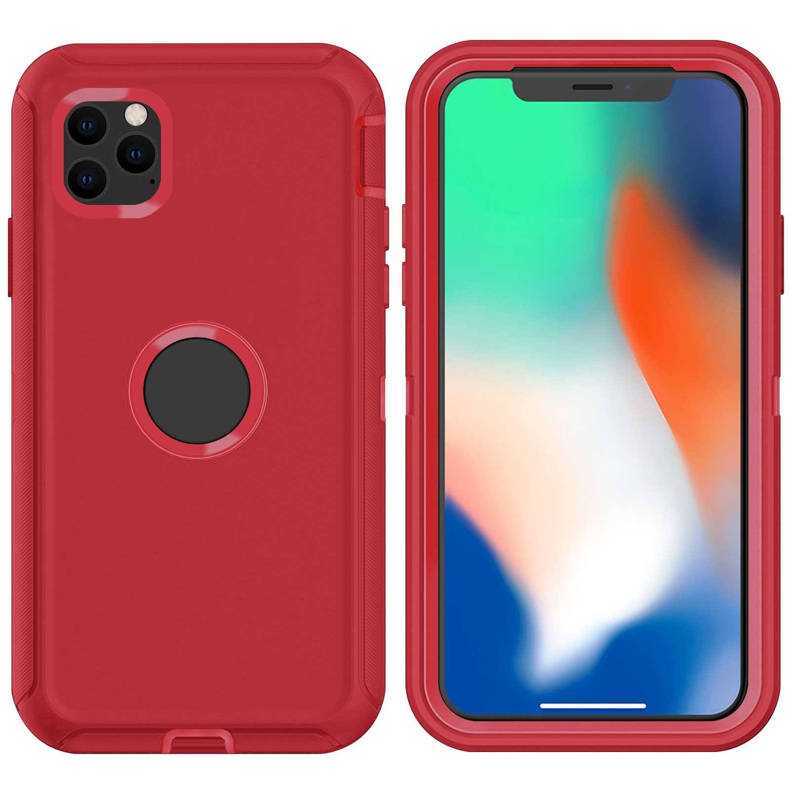 DualPro Protector Case for iPhone 11 Pro Max - Red