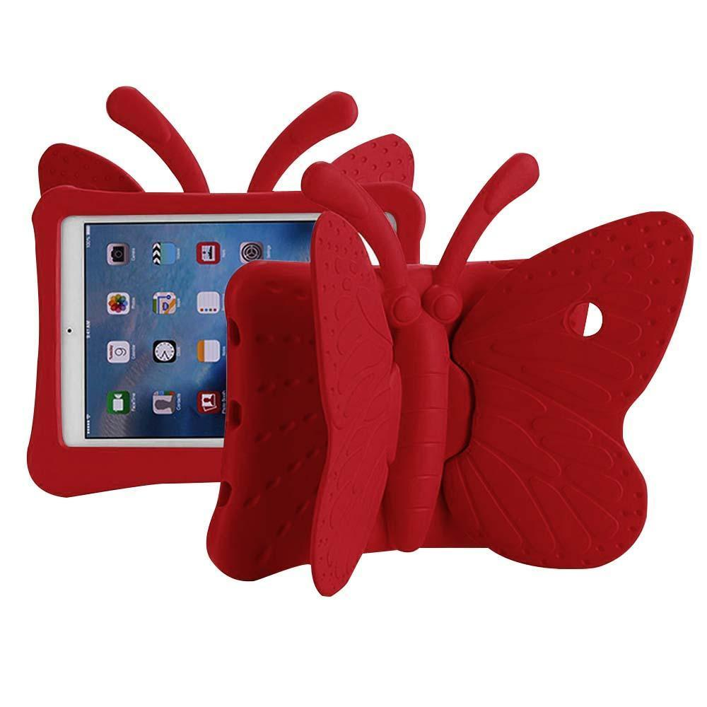 Butterfly Case for iPad Air 1/Air 2/iPad Pro 9.7/ iPad 5 (2017)/iPad 6 (2018) - Red