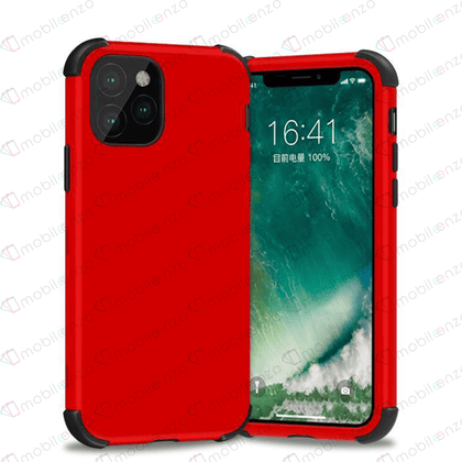Bumper Hybrid Combo Case for iPhone 12 / 12 Pro (6.1) - Red & Black