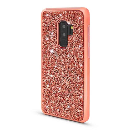 Color Diamond Hard Shell Case For Samsung Galaxy S9 Plus - Rose Gold