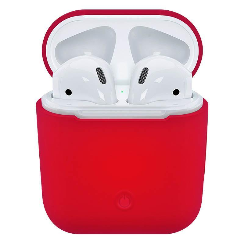 Soft Silicone Case for Apple Airpods - Rose Red