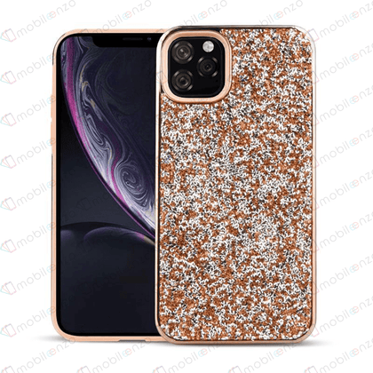 Color Diamond Hard Shell Case for iPhone 12 Pro Max (6.7) - Rose Gold